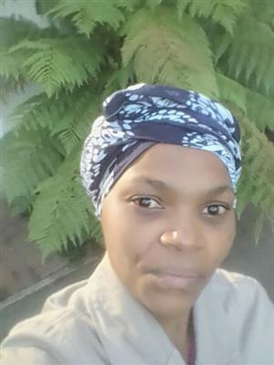 Energetic LESOTHO lady with genuine refs seeks live in work as a housekeeper/childminder/care-giver/cleane