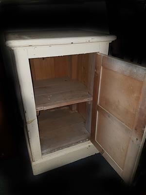 Antique oregon cupboard.