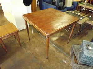 Wooden card or games table