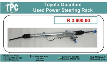 Toyota Quantum Used Power Steering Rack For Sale.