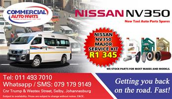 Major Service Kit For Nissan Nv350 Impendulo For Sale.