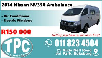 2014 Nissan NV350 Ambulance - Great Condition - TPC Rebuild Yard.