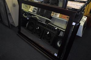 Wooden Framed Large Mirror