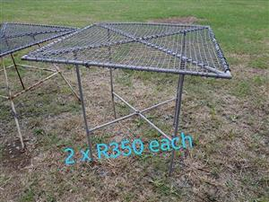Steel gray garden tables for sale