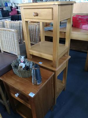 Wooden bedside drawers for sale