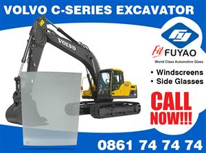 Brand new windscreen for sale for Volvo C-Series Excavator #3852BLFW