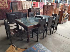 Antique 8 seater dining set for sale