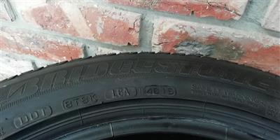 2x205/55/R16 second hand bridgestone runflat tyres for sale