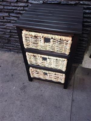 chest of drawers (basket hand made)