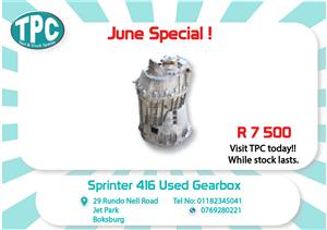 Mercedes Benz Sprinter 416 Used Gearbox for Sale  at TPC
