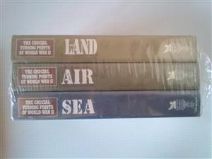 "Documentary ""The turning points of World War 2: Land, Air, Sea"" in three Video Tapes. Sealed,unopened"