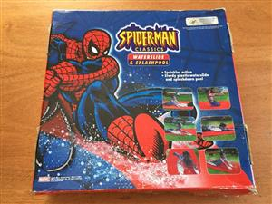 Spiderman themed waterslide and splashpool - brand new in box!