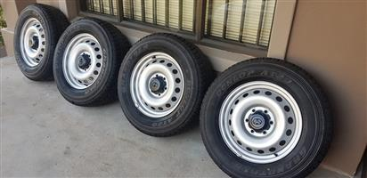 """toyota hilux 17"""" rims and tires"""