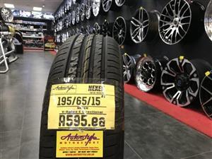"15"" inch tyres tire 195/65/15 Nexen brand new"