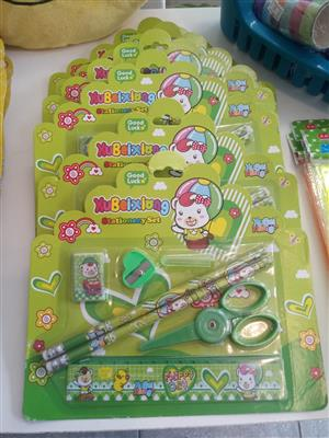 HAPPY DAY STATIONERY SET WITH SAFETY SCISSOR