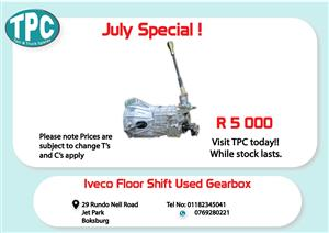 Iveco Used Floor Shift Gearbox for Sale at TPC
