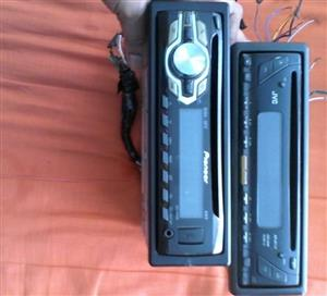 Various Front Loader radios and CD Shuttles for sale