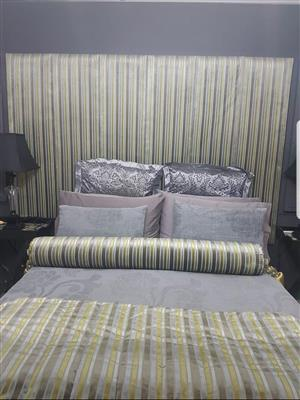 Headboard with Bolster and Runner