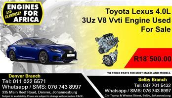 Toyota Lexus 4.0L 3Uz V8 Vvti Engine Used For Sale.