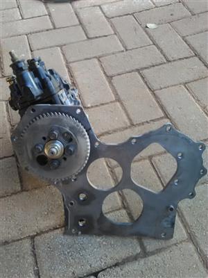Yanmar 4TNV88 complete diesel pump with flange and gear.