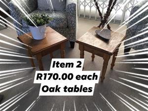 Oak tables