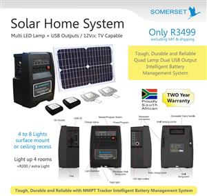 Solar LED back up system