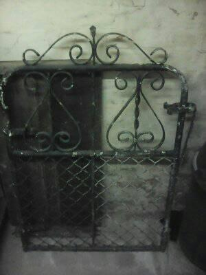 Old style steel gate for sale still solid just needs a paint