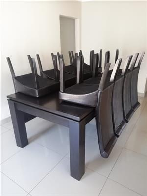 10 Piece Dining Room Set (free cabinet)