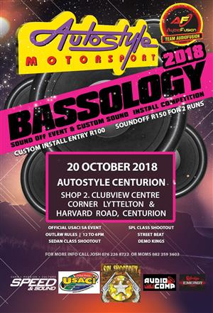 BASSOLOGY Autostyle Centurion Sound Off. Custom Sound Install competition. Official USACI event 20th October 2018