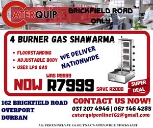 4 Burner Gas Shawarma Sale - Save R2000