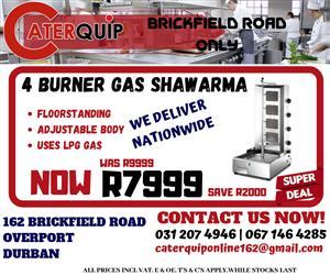 4 Burner Gas Shawarma Sale - Save R2000
