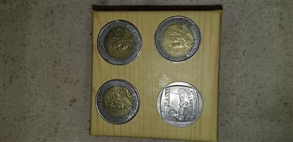 Im selling Nelson Mandela R5 coins