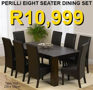 PERILLI EIGHT SEATER DINING SET
