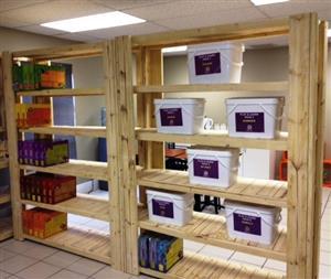 Bookshelf Farmhouse series 2000 solid shelves - Raw