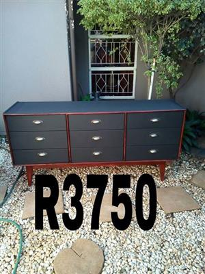 Black and wooden buffet drawer