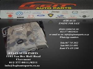 AUDI A4  1.8 ENGINE FOR SALE