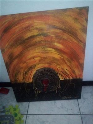 Beetle monster canvas painting for sale