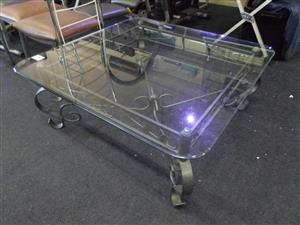 Metal Framed Glass Coffee Table