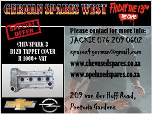 CHEV SPARK 3 B12D TAPPET COVER FOR SALE