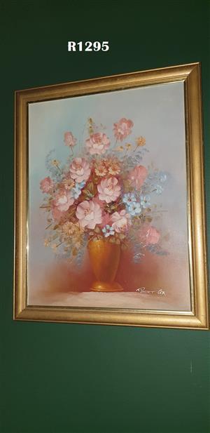 Robert Cox Long Vase Oil Painting (550x690)