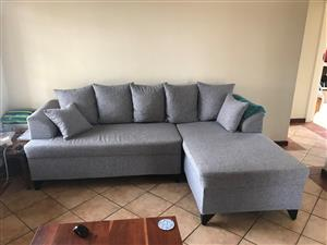 Corner Couch and pillows