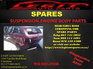 MERCEDES B200 STRIPPING FOR SPARE PARTS