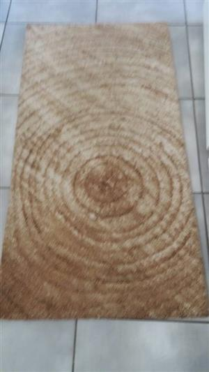 Brown circle pattern rug for sale