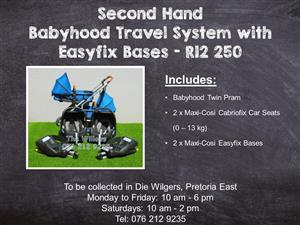 Second Hand Babyhood Travel System with Easyfix Bases