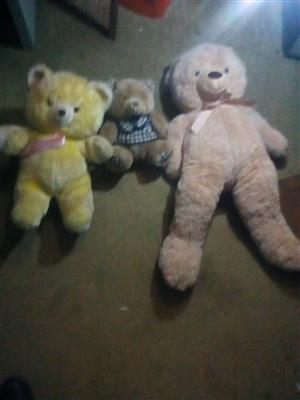 Three Teddy Bears .