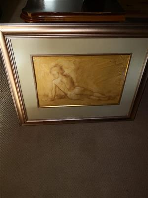 Framed body painting for sale