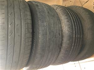 205/55/16 set of 4 used runflat tyres