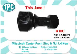 Mitsubishi Canter Front LH Stud & Nut New for Sale at TPC