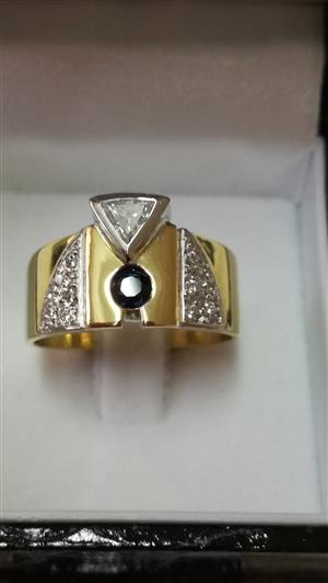 18ct White and Yellow gold ring