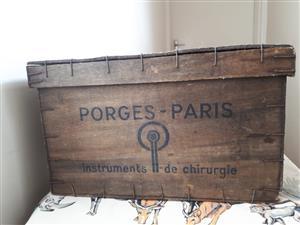 Vintage medical crates/boxes x3